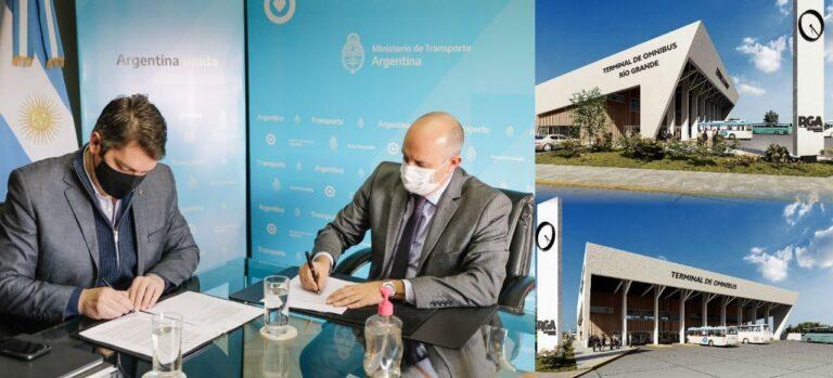 El intendente Perez y el ministro Guerrera firmaron un convenio para la construcción de una nueva terminal de ómnibus