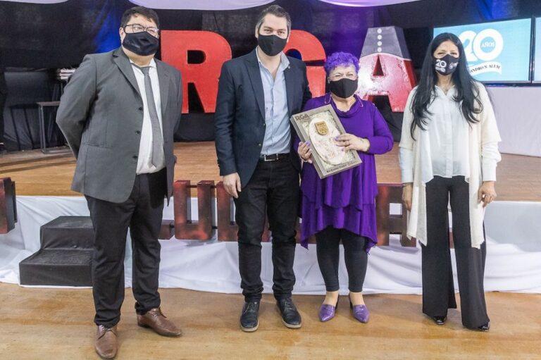 """20° Aniversario del Centro Cultural """"Leandro N. Alem"""": Perez reconoció a trabajadores históricos de la institución"""